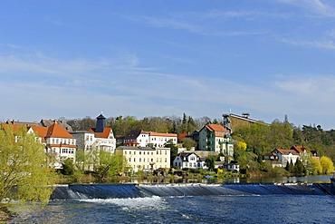 Bad Koesen on the Saale river, Naumburg, Saxony-Anhalt, Germany, Europe