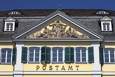 Post office, former Fuerstenberg Palais, Muensterplatz square, Bonn, Rhineland, North Rhine-Westphalia, Germany, Europe
