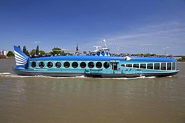 Bonner Personen-Schifffahrt shipping company, passenger ship, Moby Dick, Bonn, Rhineland region, North Rhine-Westphalia, Germany, Europe