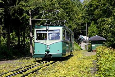 Cog railway to Mt. Drachenfels, Koenigswinter, Rhineland, North Rhine-Westphalia, Germany, Europe