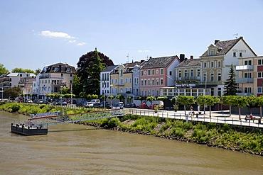 Rhine promenade, Remagen, Rheinland, Rhineland-Palatinate, Germany, Europe