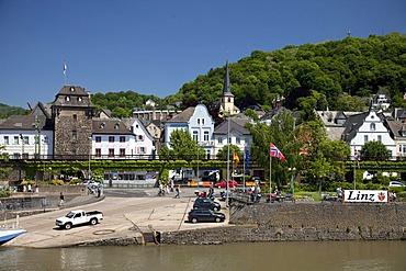Rhine promenade, Linz am Rhein, Rhineland, Rhineland-Palatinate, Germany, Europe