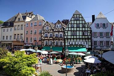 Down town, half-timbered houses, Linz am Rhein, Rhineland, Rhineland-Palatinate, Germany, Europe