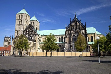 Muenster cathedral, St. Paul's Cathedral, Muenster, Muensterland, North Rhine-Westfalia, Germany, Europa