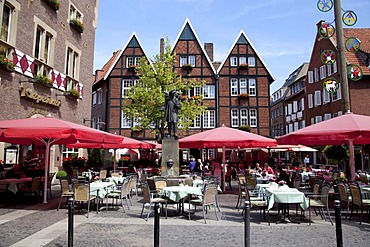 Kiepenkerl restaurant, Spiekerhof square, Muenster, Muensterland, North Rhine-Westphalia, Germany, Europe
