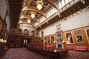 Waterloo Chamber, Windsor Castle, Windsor, Berkshire, England, United Kingdom, Europe