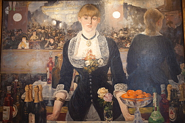 A Bar at the Folies-Bergeres by Edouard Manet, The Courtauld Gallery, Somerset House, London, England, United Kingdom, Europe