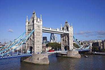 Tower Bridge and River Thames, London, England, United Kingdom, Europe