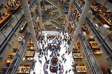 Interior of Lloyds Insurance Building, City of London, London, England, United Kingdom, Europe