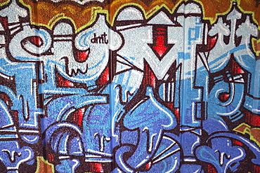 Graffiti under the Queen Elizabeth Hall, Southbank, London, England, United Kingdom, Europe