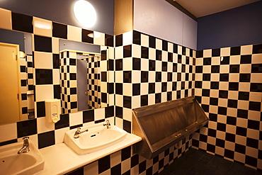 Urinals in men's public toilet