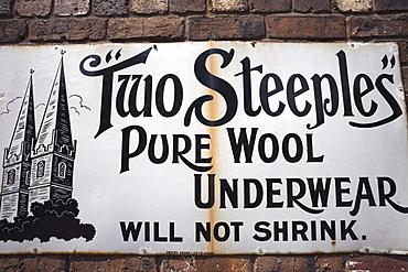 Antique enamelled advertising sign, England, United Kingdom, Europe