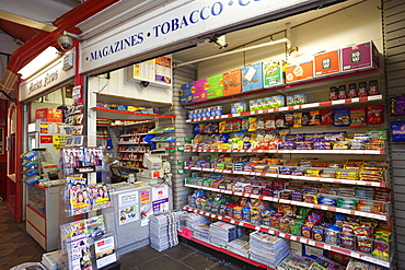 Newsagent and Tobacconist shop display, Oxford, Oxfordshire, England, United Kingdom, Europe