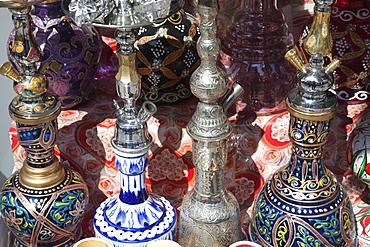 Waterpipe shop display, Grand Bazaar, Sultanahmet, Istanbul, Turkey, Europe