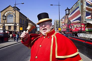 Alan Myatt, Town Crier, Camden, London, England, United Kingdom, Europe