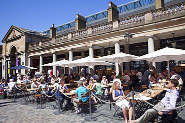 Outdoor restaurants, Covent Garden, London, England, United Kingdom, Europe