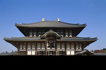 Great Buddha Hall (Daibutsuden), Todaiji Temple, Nara, UNESCO World Heritage Site, Honshu, Japan, Asia