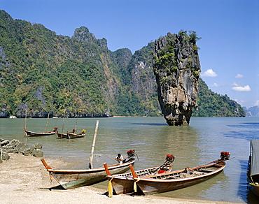 Phangnga Bay, James Bond Island (Ko Khao Phing Kan), Phuket, Thailand, Southeast Asia, Asia