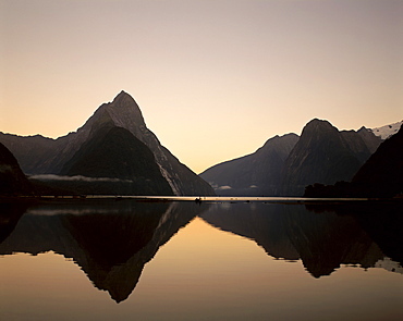 Mitre Peak at dawn, Milford Sound, Fiordland National Park, Milford, South Island, New Zealand, Pacific