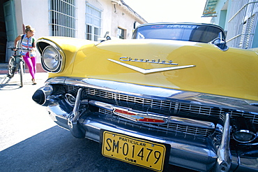 Vintage car, Trinidad, Cuba, West Indies, Central America
