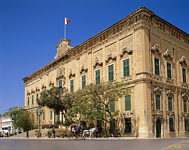 The Auberge De Castille Building, Valetta, UNESCO World Heritage Site, Malta, Europe