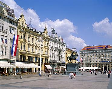Bana Josipa Jelacica Square, Zagreb, Croatia, Europe
