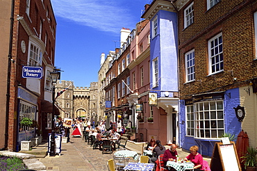 Windsor Castle and street scene, Windsor, Berkshire, England, United Kingdom, Europe