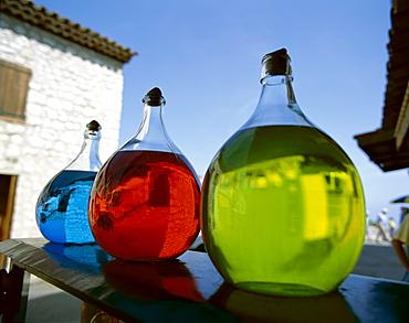 Perfume jars, Grasse, Provence, Cote d'Azur, France, Europe