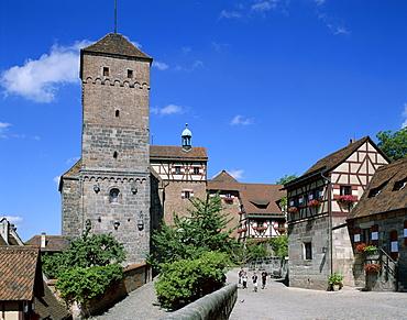 The Kaiserburg Castle, Museum, Nuremberg, Bavaria, Franconia, Germany, Europe