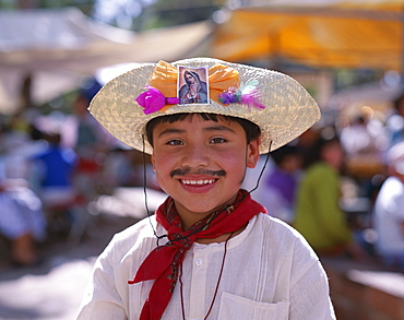 Girl and boy dressed in Mexican costume, Oaxaca, Mexico, North America
