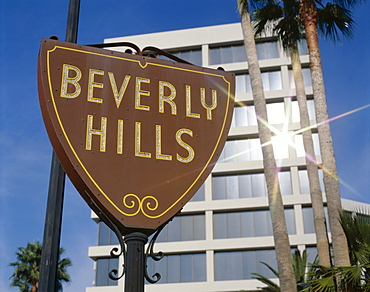 Beverly Hills sign, Los Angeles, California, United States of America, North America