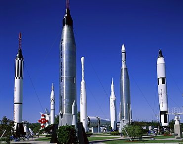 Space Rockets exhibition, NASA, Kennedy Space Centre, Cape Canaveral, Florida, United States of America, North America