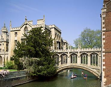 Bridge of Sighs, St. Johns College, Cambridge, Cambridgeshire, England, United Kingdom, Europe