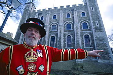 Beefeater at Tower of London, London, England, United Kingdom, Europe