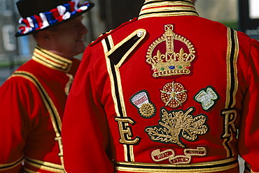 Detail of Beefeater costume, London, England, United Kingdom, Europe