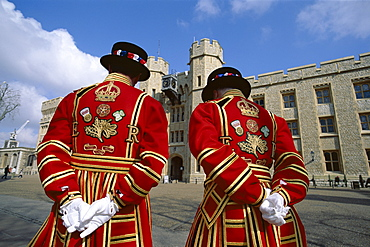 Beefeaters, Tower of London, London, England, United Kingdom, Europe