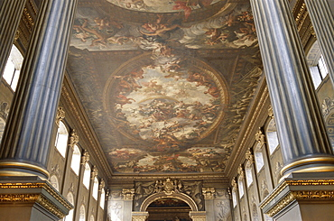 Interior, Painted Hall, Old Royal Naval College, UNESCO World Heritage Site, Greenwich, London, England, United Kingdom, Europe