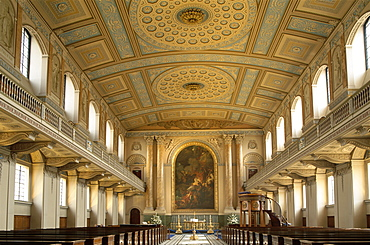 Interior, Chapel, Old Royal Naval College, UNESCO World Heritage Site, Greenwich, London, England, United Kingdom, Europe