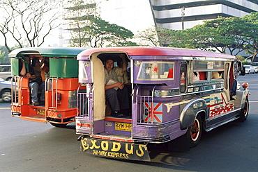 Jeepneys, Manila, Philippines, Southeast Asia, Asia