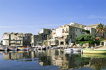 Erbalunga fishing village, Corsica, France, Mediterranean, Europe