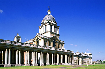 King William Court, Royal Naval College, UNESCO World Heritage Site, Greenwich, London, England, United Kingdom, Europe