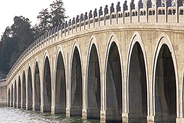 Seventeen Arched Bridge, Summer Palace, UNESCO World Heritage Site, Beijing, China, Asia