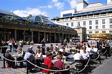 Outdoor restaurants in Covent Garden, London, England, United Kingdom, Europe