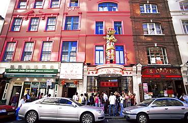 Chinese Restaurants, Wardour Street, Chinatown, Soho, London, England, United Kingdom, Europe