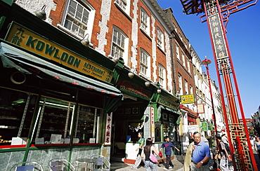 Chinese Restaurants, Gerrard Street, Chinatown, Soho, London, England, United Kingdom, Europe