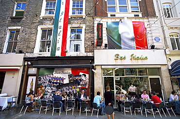 Street scene, Frith Street, Soho, London, England, United Kingdom, Europe