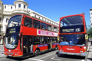 Double decker buses, London, England, United Kingdom, Europe