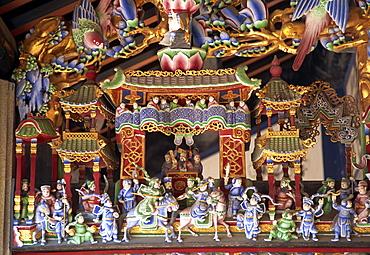 Chinese statues in Pak Tai Temple, Cheung Chau Island, Hong Kong, China, Asia