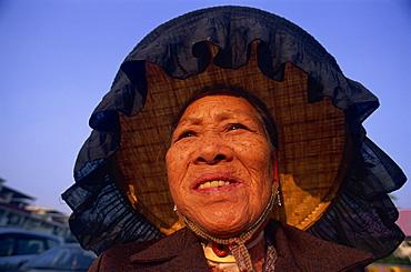 Hakka women at the Kam Tin Walled Village, New Territories, Hong Kong, China, Asia
