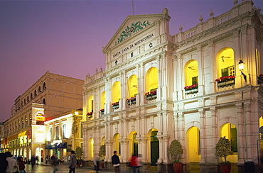 Santa Casa da Misericordia (Holy House of Mercy), Senado Square, Macau, China, Asia
